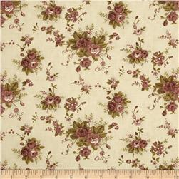 Moda Plum Sweet Faded Rose Antique Cream