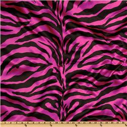 Charmeuse Satin Zebra Fuschia/Black