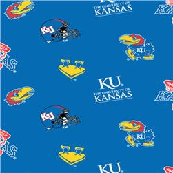 Collegiate Fleece University of Kansas Tossed
