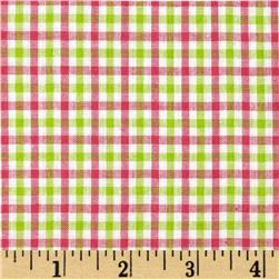 Yarn Dyed Plaid Shirting Pink/Green Fabric