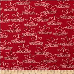 Ahoy Matey Sailboat Red