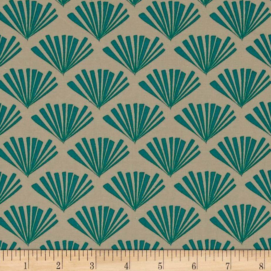 Moda Valley Fringe Bisque-Teal