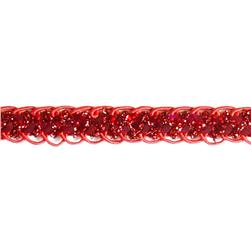 "1/2"" Sequin Braid Cord Trim Red"