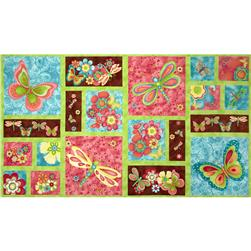 Happy Blooms Panel Multi