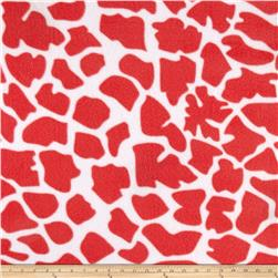 Zebra and Giraffe Giraffe Fleece Coral