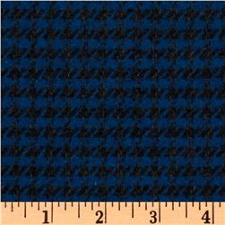Wool Blend Suiting Houndstooth Black/Blue