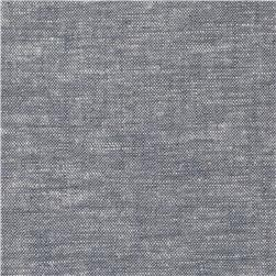 Brussels Washer Yarn Dye Grey Fabric