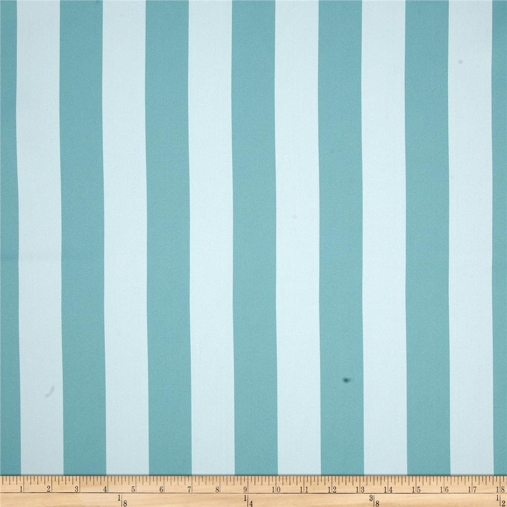 RCA Vertical Stripe Blackout Drapery Fabric Aqua Mist