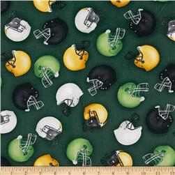 Sports Life Helmets Green Fabric