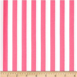 Riley Blake 1/2'' Stripe Hot Pink Fabric