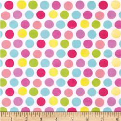 Alpine Flannel Fruit Flower Dots Purple Fabric