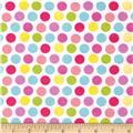 Alpine Flannel Fruit Flower Dots Purple