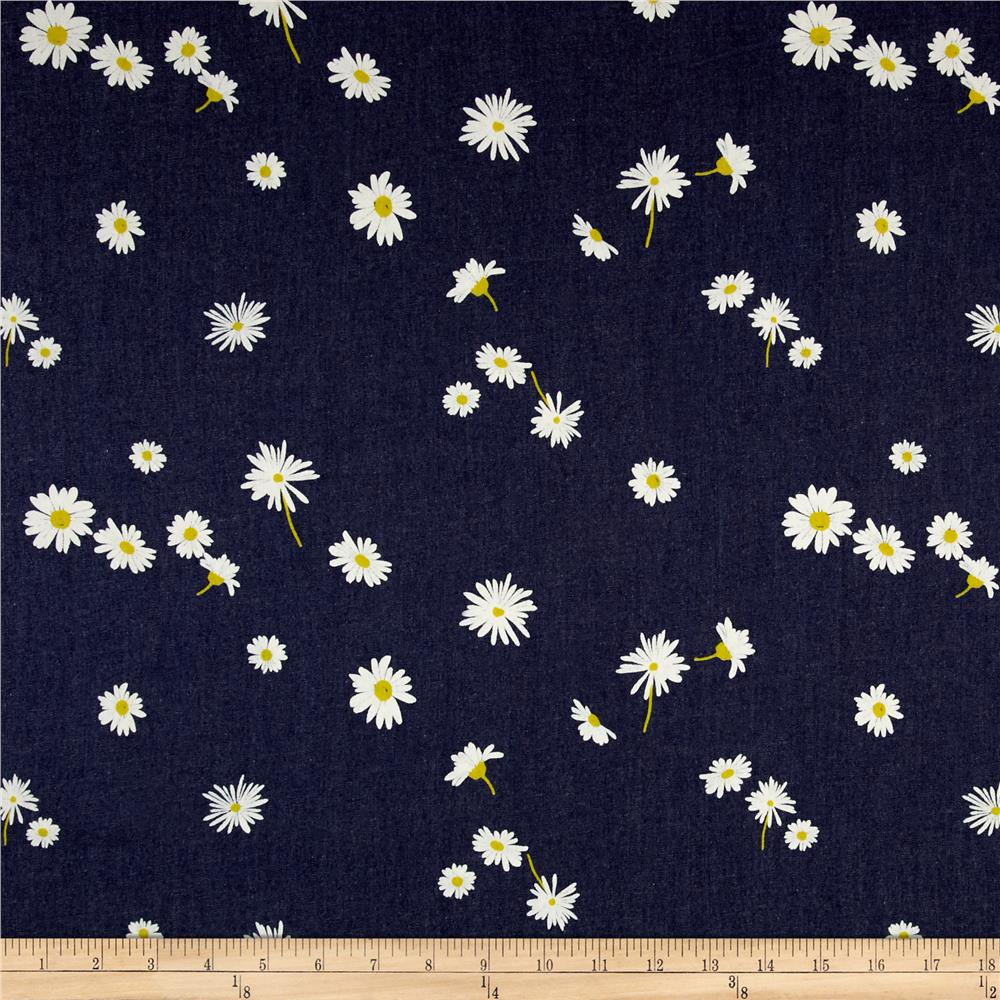 Art Gallery Denim Print Ragged Daisies