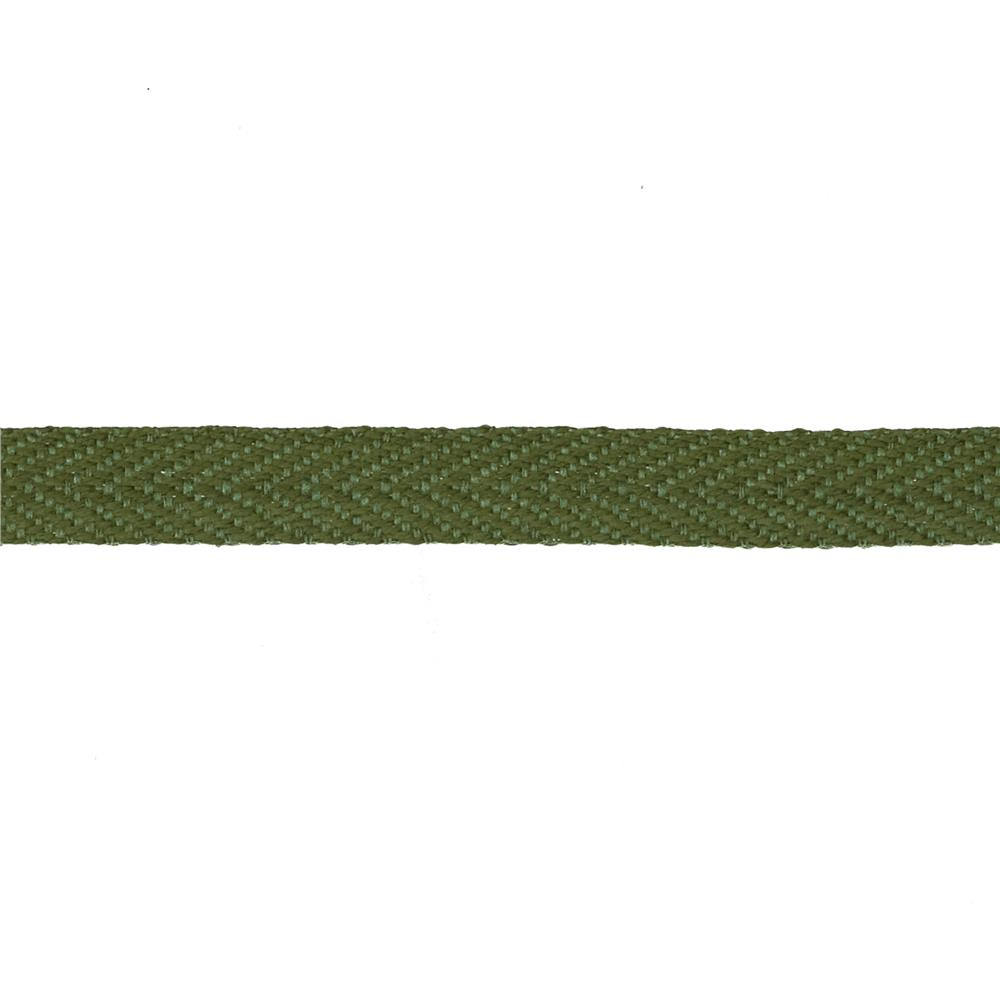 "May Arts 3/8"" Twill Ribbon Spool Olive"