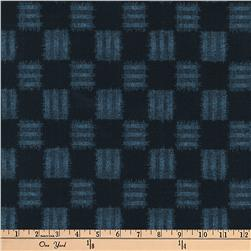 Kaufman Kasuri Check Plaid Midnight