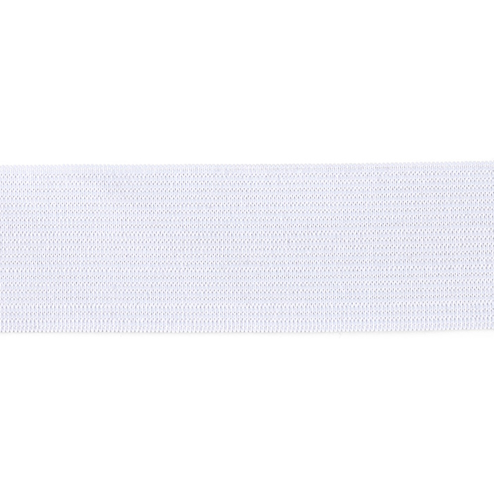 1-1/2'' Heavy Duty Elastic White - By the