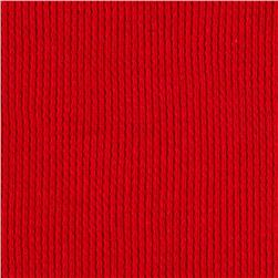 Cotton Poly Thermal Knit Red