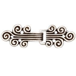 Buckles 2 3/8'' Classic Clasp Antique Silver