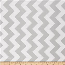 Riley Blake Silver Sparkle Medium Chevron Gray