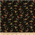 Cozies Flannel Harvest Flower Brown