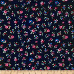 Shelburne Falls Floral Black Purple