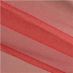 Shiny Tulle Red Fabric