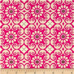 Bright Now Flower Patch Pink Fabric