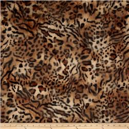Faux Fur Hi Low Leopard Fur Gold/Black Fabric