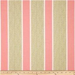 Duralee Ellen Stripe Blend Pink/Green Fabric