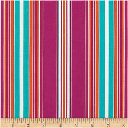 Contempo Brigitte Wallpaper Stripe Fuchsia