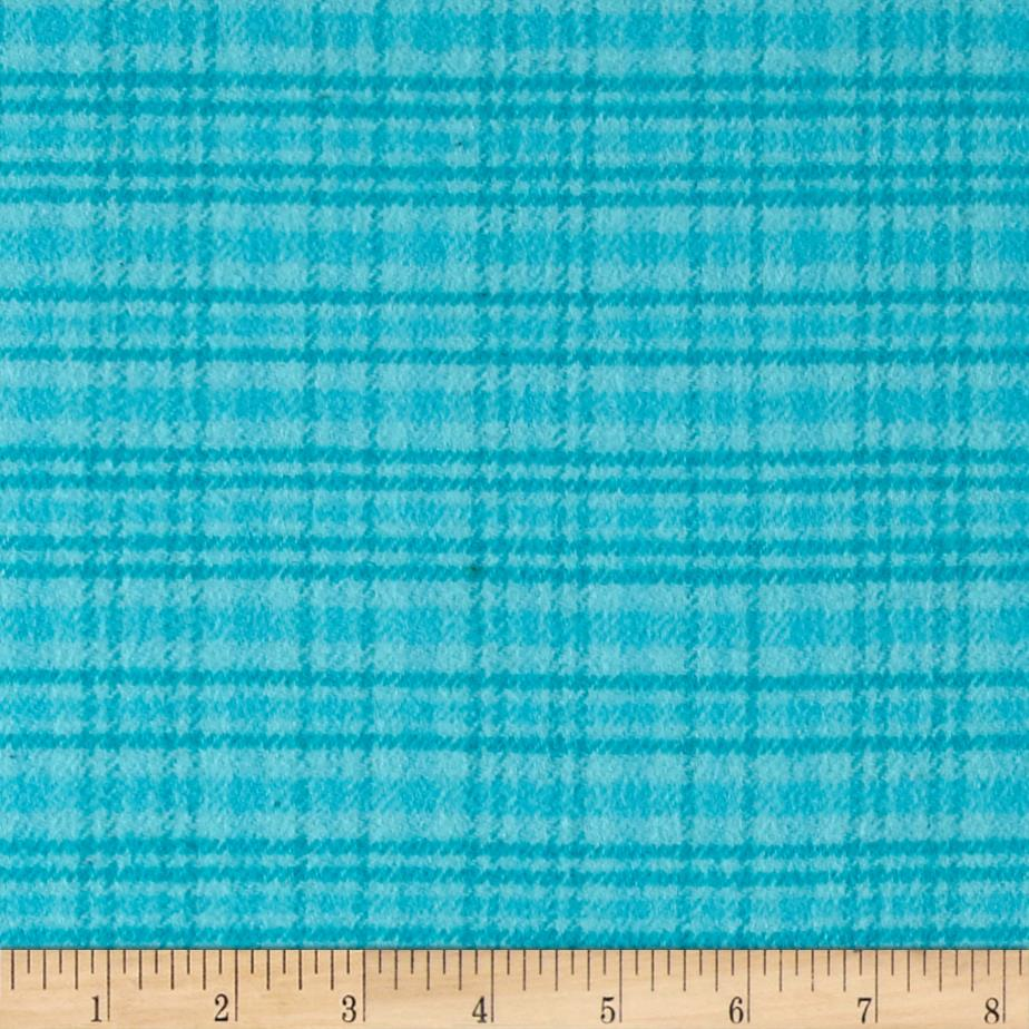 Color Catchers Yarn-Dye Flannel Large Plaid Turquoise