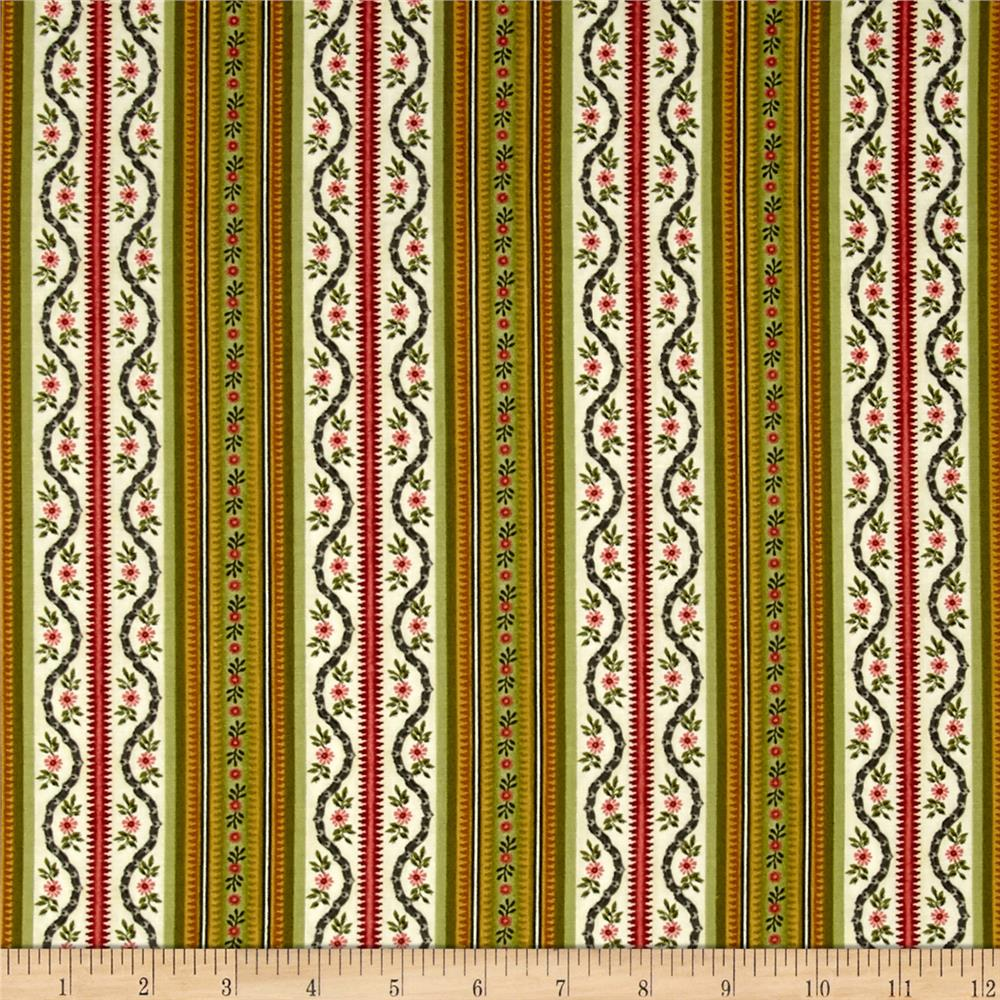 Botanica III The Scarlet Story Stripe Cream