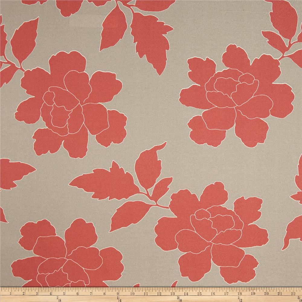 Dwell Studio Indoor/Outdoor New Peony Coral