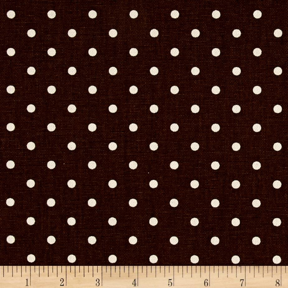 Premier Prints Mini Dot Twill Natural Village Brown/Natural