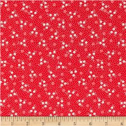 Robert Kaufman Pretty Posies Scattered Small Flower Red