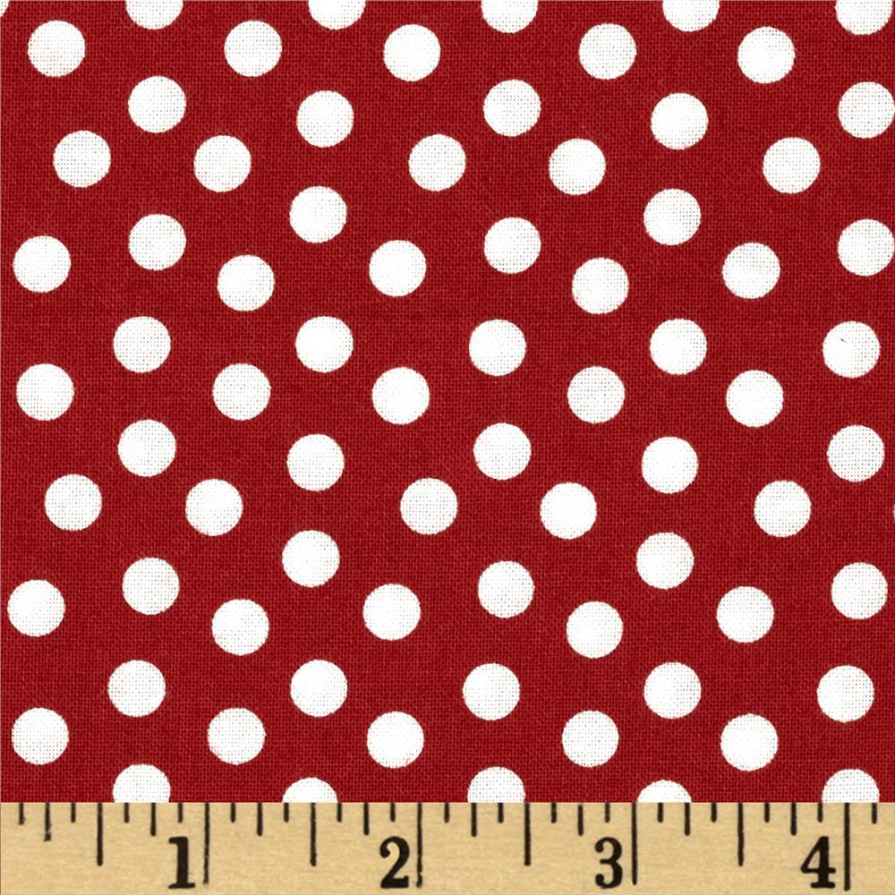 Essentials Dotcha Red/White Fabric