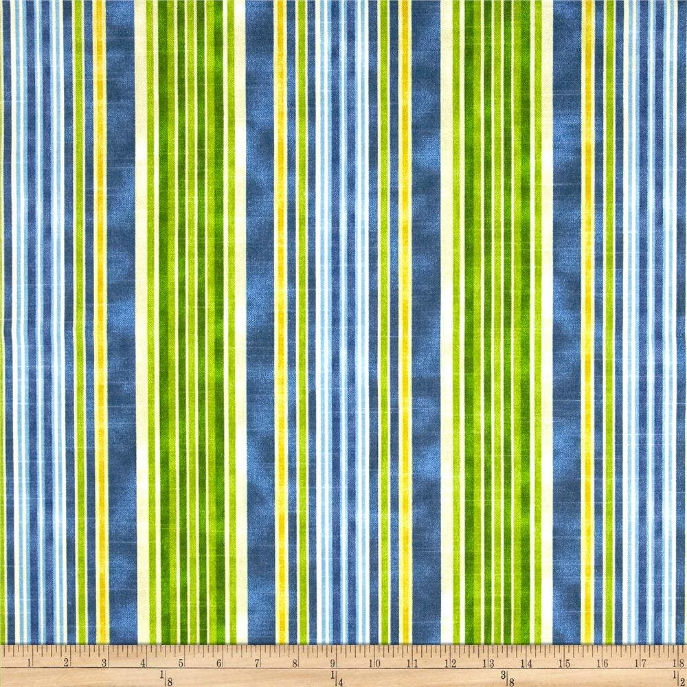 HGTV HOME One Way Stripe Slub Azure