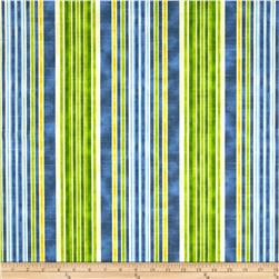 HGTV HOME One Way Stripe Slub Azure Fabric