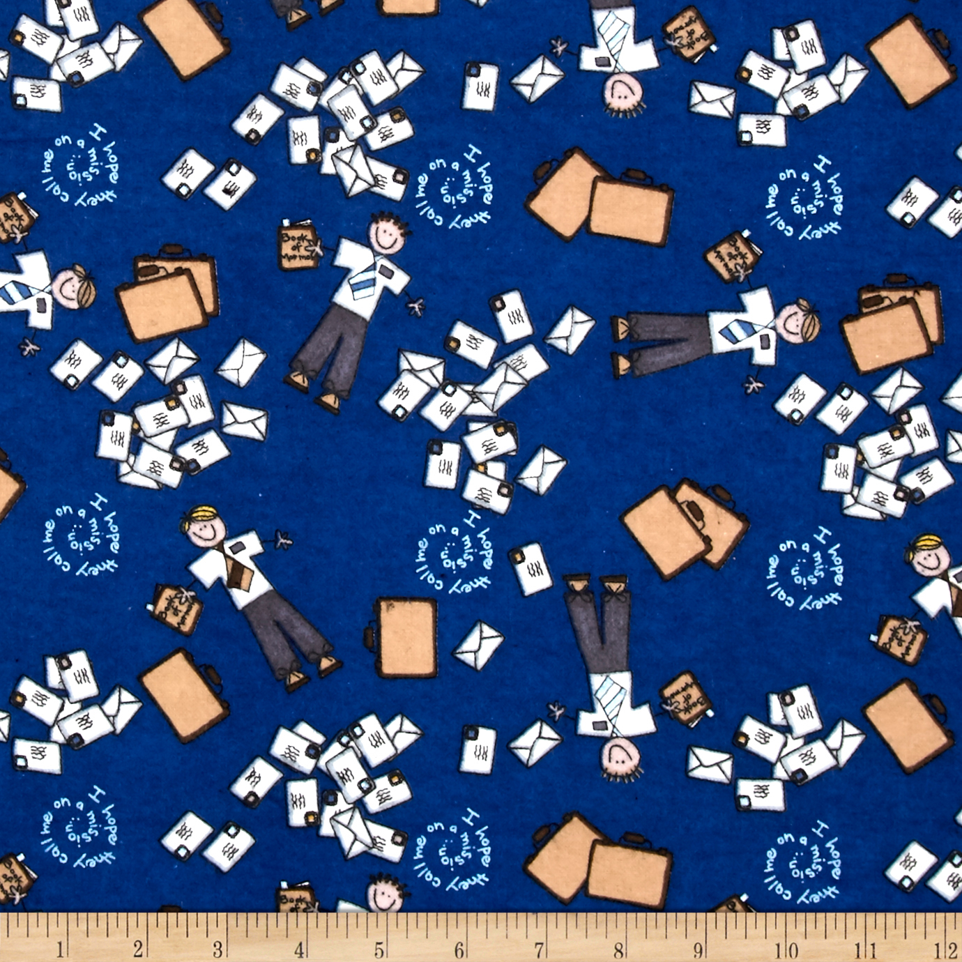 Alpine Flannel Amy Dots Blue Fabric by Christensen in USA