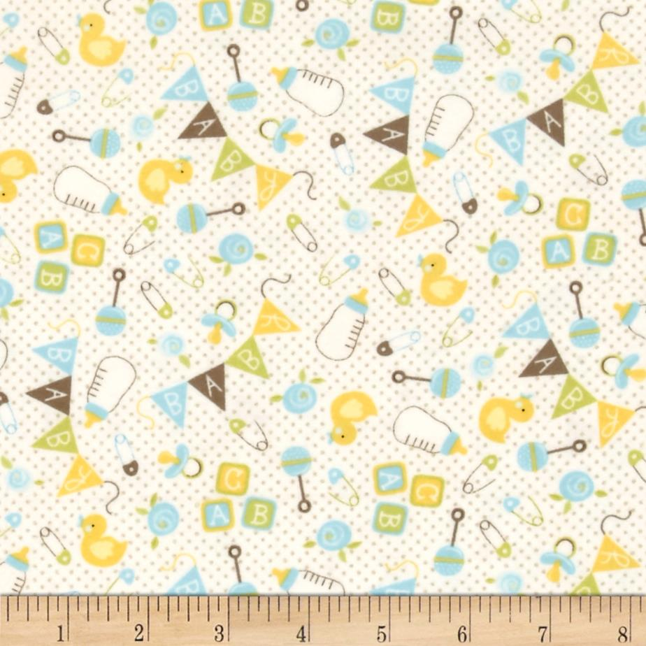 Moda sweet baby flannel nursery toss sky cloud discount for Nursery fabric