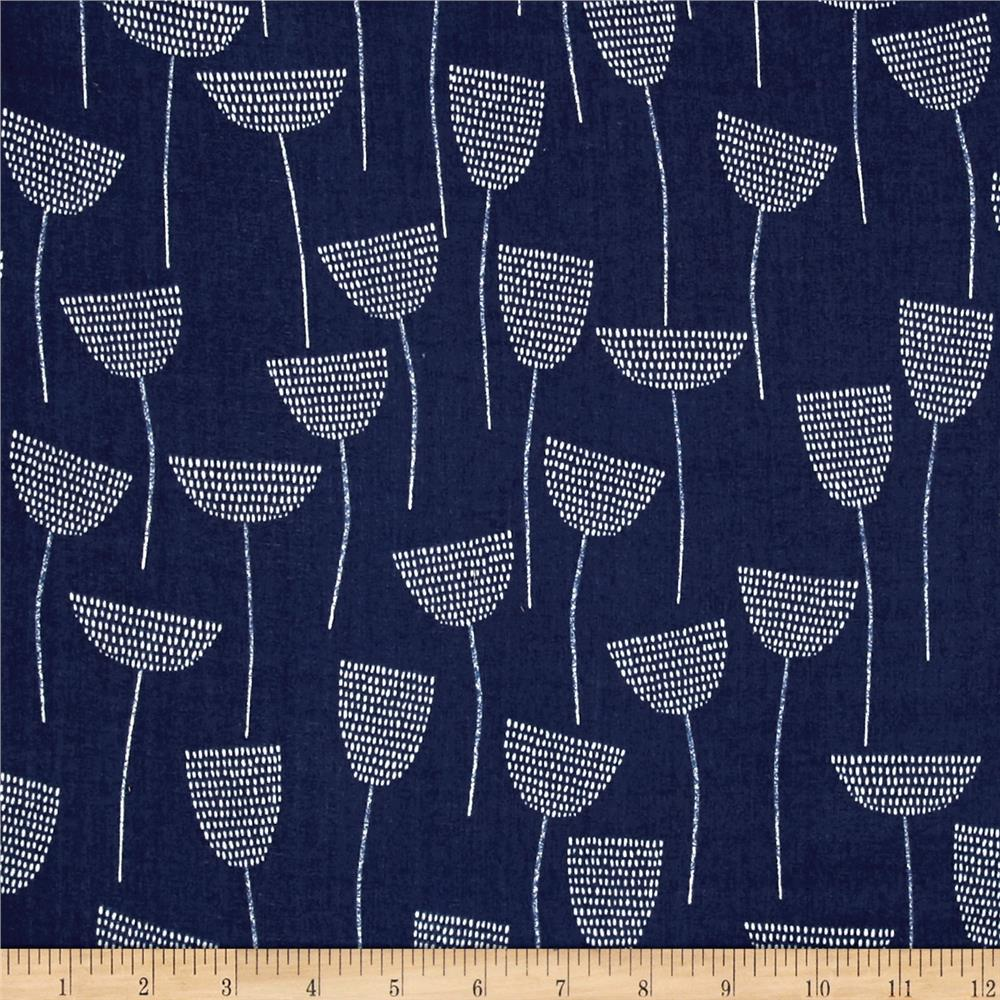 Cloud 9 Organic Double Gauze Threads Stitch Stem Navy