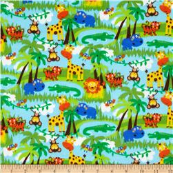 Comfy Flannel Jungle Animals Scenic Multi