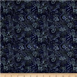 Liberty of London Saville Poplin Elderberry Midnight Blue