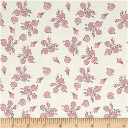 Riley Blake Think Pink Floral Cream