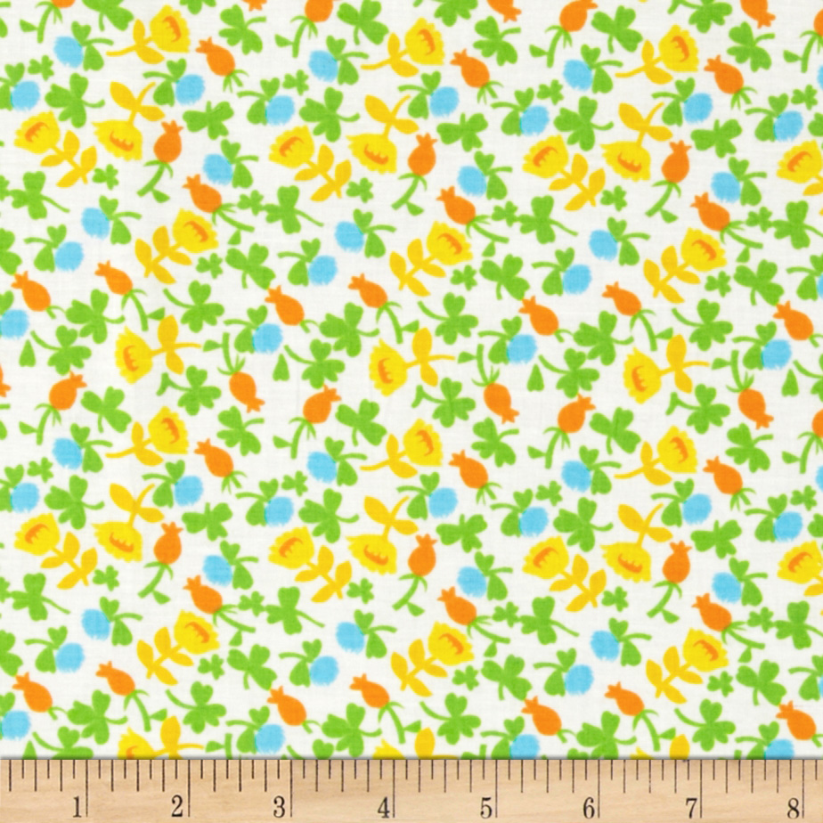 Heather Ross Briar Rose Calico Blue/White Fabric