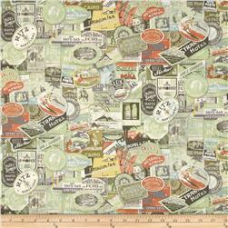 Tim Holtz Eclectic Elements Travel Labels Multi Fabric