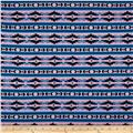 Cotton Spandex Jersey Knit Aztec Pink/Blue/Black