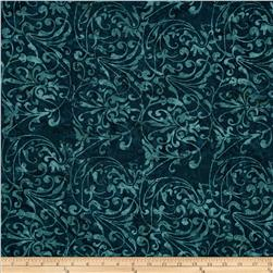Moda Paint Box Batiks Graceful Waves Navy