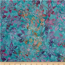 Timeless Treasures Tonga Batik Pinwheel Flower Teal