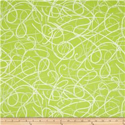 Poppy Modern Ribbon Swirls Green